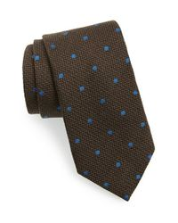 David Donahue | Green Dot Woven Tie for Men | Lyst