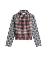 Victoria Beckham - Cropped Cotton Shirt - Multicolor - Lyst
