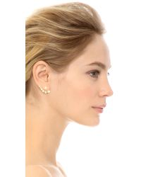 kate spade new york - Metallic Dainty Sparkler Ear Jackets - Cream - Lyst