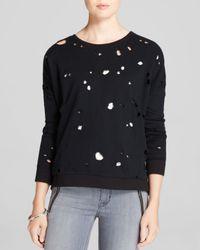 Generation Love Black Sweatshirt - Distressed