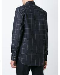Etudes Studio - Black Grid Print Shirt for Men - Lyst