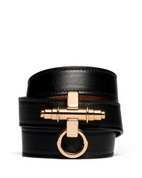 Givenchy | Black 'obsedia' Triple Wrap Bracelet | Lyst