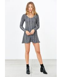 BDG - Gray Camp Sweater Dress - Lyst