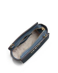MICHAEL Michael Kors | Blue Selma Leather Mini Messenger Bag | Lyst