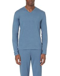 Ralph Lauren | Blue Long-sleeved Stretch-jersey Pyjama Top for Men | Lyst