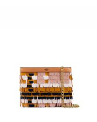 Tory Burch | Pink Feathered Paillette Clutch | Lyst