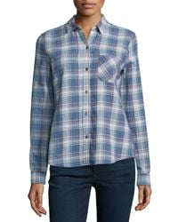 Current/Elliott Blue The Slim Boy Shirt