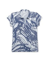 Calvin Klein - Blue White Label Abstract Scale Print Polo Shirt - Lyst
