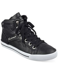 G by Guess | Black Opall High Top Sneakers | Lyst