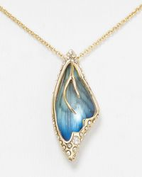 Alexis Bittar | Blue Handstenciled Butterfly Wing Lucite Pendant Necklace 15 | Lyst