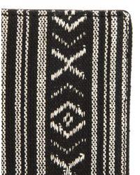ASOS Black Bifold Wallet in Aztec Fabric for men