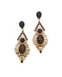 Elizabeth Cole | Black Courtland Earrings  Jet Fleck | Lyst