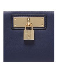 Carvela Kurt Geiger Blue Catriona Padlock Wallet