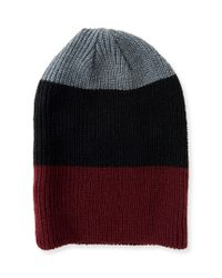 Aéropostale | Gray Colorblocked Beanie | Lyst