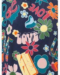 Love Moschino - Blue Love Print Sweatshirt - Lyst