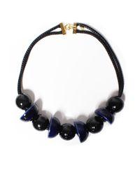 Marion Vidal | Black And Blue Ceramic Necklace | Lyst