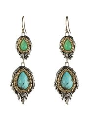 Alexis Bittar - Blue Turquoise Chrysoprase Chalcedony Feathered Earrings - Lyst