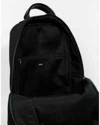 ASOS | Black Backpack In Scuba for Men | Lyst