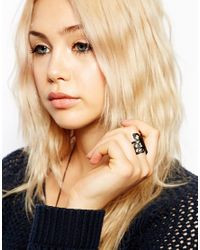 ASOS | Black Limited Edition Butterfly Ring | Lyst