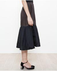 Marni Black Wrinkled Silk Skirt