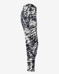 Nili Lotan - White Abstract Stripe Sheer Chiffon Pant - Lyst