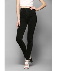 Urban Outfitters - Light Before Dark Super Highrise Skinny Jean Black - Lyst