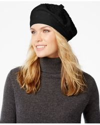 kate spade new york | Black Gradient Embellished Beret | Lyst
