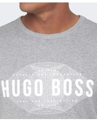 BOSS Green | Gray Modern Fit Logo T-shirt for Men | Lyst