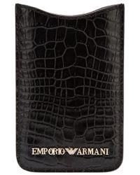 Emporio Armani - Black Iphone 4 Case - Lyst