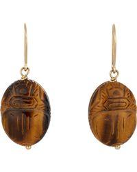 Aurelie Bidermann | Brown Scarab-beetle Drop Earrings | Lyst
