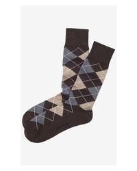 Express | Brown Argyle Dress Socks for Men | Lyst