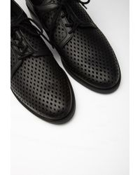 Forever 21 Black Perforated Faux Leather Oxfords