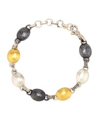 Gurhan | Multicolor Tricolor Lentil Link Bracelet | Lyst