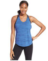 Nike | Blue Elastika Dri-fit Heathered Racerback Tank Top | Lyst