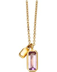 Astley Clarke | Metallic 18ct Gold Vermeil Amethyst Necklace | Lyst