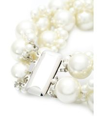 Simone Rocha | White Double Pearl Necklace | Lyst