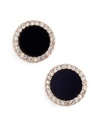 kate spade new york | Black 'in The Spotlight' Circular Stud Earrings | Lyst