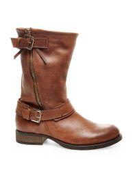 Steve Madden Brown Kavilier Leather Boots