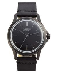 Electric - Black 'carroway' Leather Strap Watch for Men - Lyst