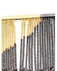 MM6 by Maison Martin Margiela - Metallic Fringed Necklace - Lyst