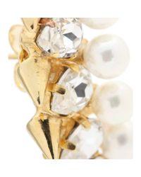Joanna Laura Constantine Metallic Gold-Plated Crystal-Embellished Stud Earrings