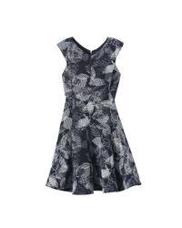 Rebecca Taylor Black Sonic Garden V-neck Dress
