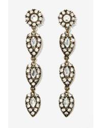 Nasty Gal - Metallic Winslet Drop Earrings - Lyst
