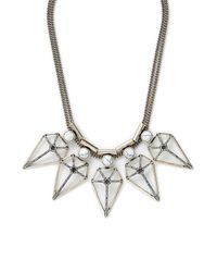 Rebecca Minkoff | Metallic Boho Blade Statement Necklace | Lyst