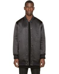 Wanda Nylon - Black Textured Teddy Rocky Coat for Men - Lyst