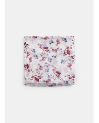 Violeta by Mango White Flower Print Scarf