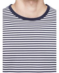 Sunspel | Blue Stripe T-shirt for Men | Lyst