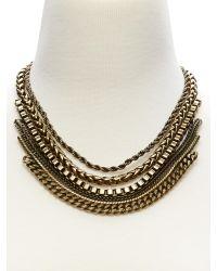 Banana Republic | Metallic Brass Chain Necklace | Lyst