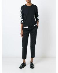 Off-White c/o Virgil Abloh Black Logo Printed Long Sleeve T-shirt