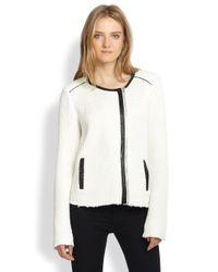 Townsen White Speakeasy Knit Jacket